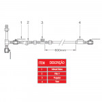 VISOR DE FLUXO JANELA SIMPLES VSR-110 1' BSPT CRISTAL - SF INTERNATIONAL